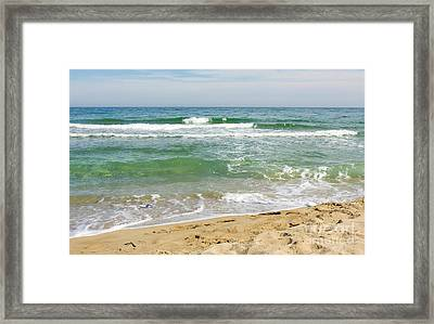 Turguoise Sea With Waves Framed Print