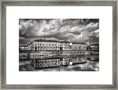 Turin Shrouded In Cloud Framed Print