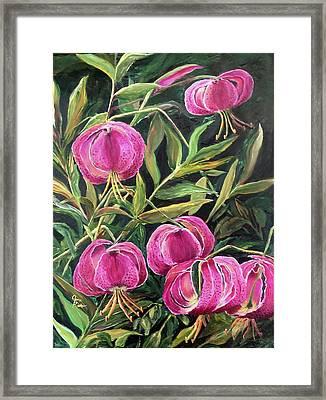 Turk Tigers In My Garden Framed Print
