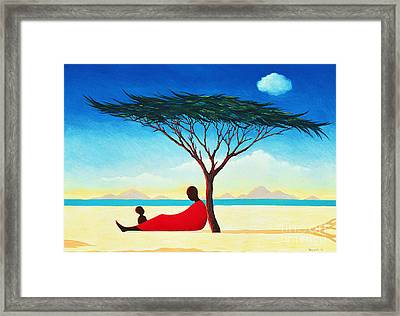 Turkana Afternoon Framed Print by Tilly Willis