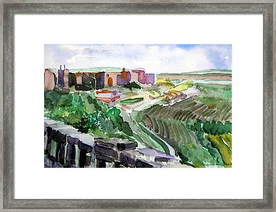 Turkey Iraq Wall On The Northern Border Framed Print by Mindy Newman
