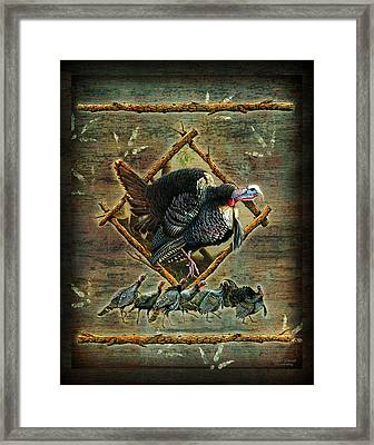 Turkey Lodge Framed Print by JQ Licensing