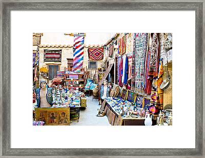 Turkish Craft Store Framed Print by Tom Gowanlock