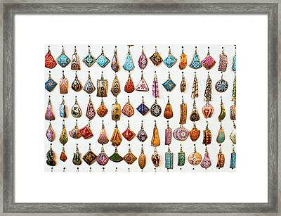 Turkish Earrings Framed Print by Tom Gowanlock