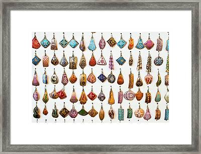 Turkish Earrings Framed Print by Tom Gowanlock