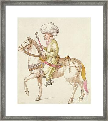 Turkish Horseman Framed Print by Albrecht Durer
