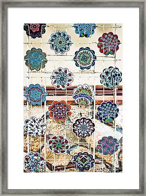 Turkish Pottery Framed Print