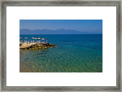 Turkish Resort Framed Print by Kobby Dagan