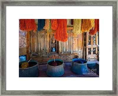 Turkish  Rug Maker Framed Print by Inge Johnsson