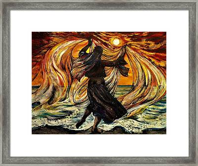Turkish Sunset Framed Print by Anna Duyunova