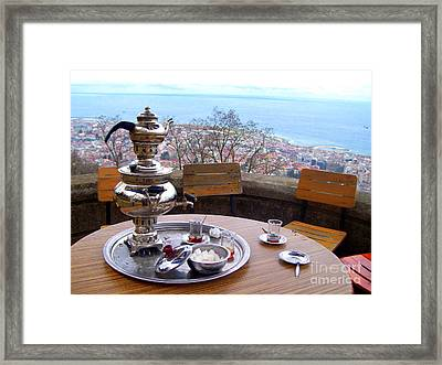 Turkish Tea On The Black Sea Framed Print