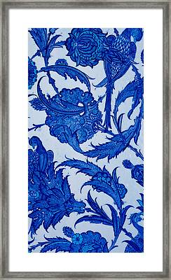Turkish Textile Pattern Framed Print by Turkish School