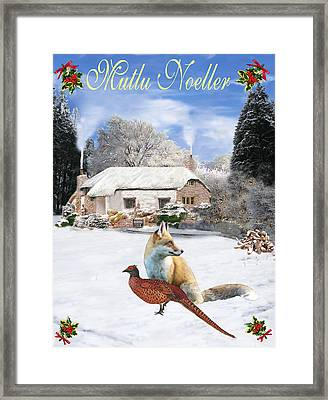 Turkish  Winter Garden Fox And Pheasant Framed Print by Eric Kempson