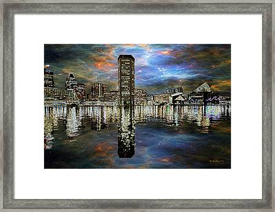 Turmoil In The City Framed Print
