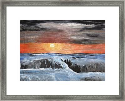 Turmoil Framed Print by L A Raven