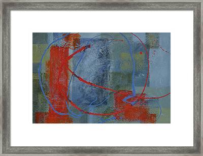 Turmoil Within Calmness Framed Print by Leana De Villiers