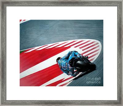 turn 10 Barcelona Framed Print by Raoul Alburg