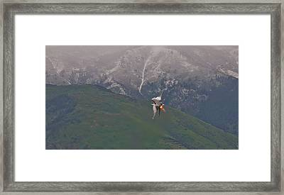 Turn And Burn Framed Print