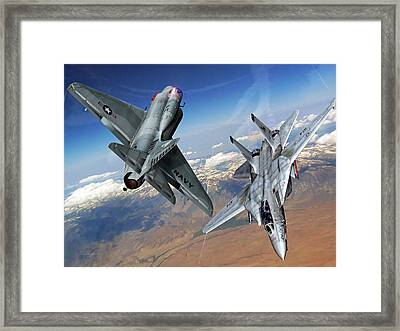 Turn And Burn Framed Print by Dorian Dogaru