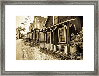 Turn Of The Century Cottages Weirs Beach New Hampshire Framed Print by Edward Fielding