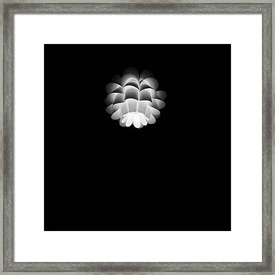 Turn On Ceiling Light Black And White Color Framed Print by Sirikorn Techatraibhop