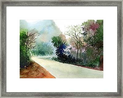 Turn Right Framed Print