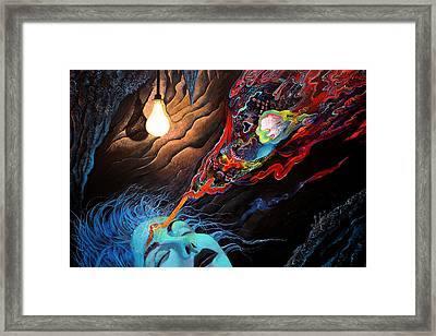 Turn The Light On Framed Print