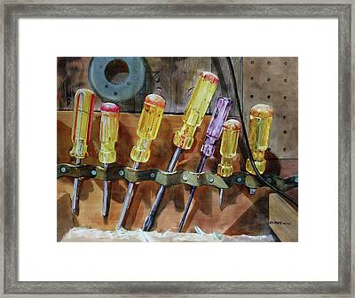 Framed Print featuring the painting Turn, Turn, Turn by Kris Parins