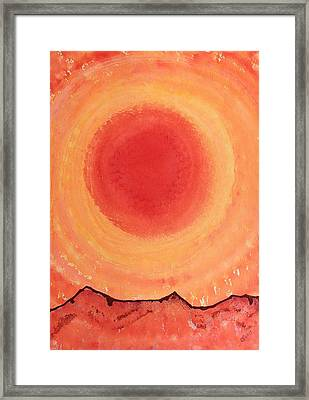 Turn West At The Sun Original Painting Framed Print