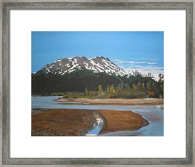 Framed Print featuring the painting Turnagain Arm Alaska by Betty-Anne McDonald