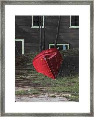 Turned Down Day Framed Print