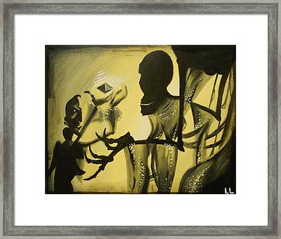 Turned It Thrice In His Hand Framed Print by Lisa Leeman