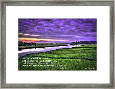 Sunset Over Turner Creek John 3 Framed Print by Reid Callaway