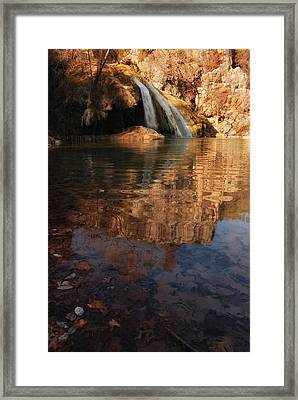 Turner Falls Autumn Reflections Framed Print by Iris Greenwell