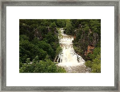 Turner Falls Waterfall Framed Print