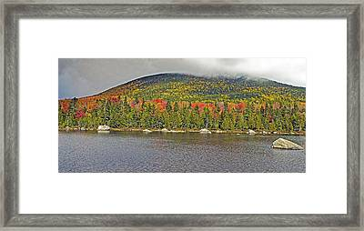 Turner Mountain From Sandy Stream Pond During Fall In Baxter State Park Maine Framed Print by Brendan Reals