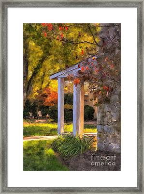 Turning A Corner Framed Print