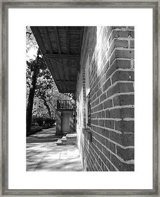 Turning A Savannah Corner Framed Print