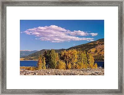Turning Aspens And Wandering Clouds - Twin Lakes Arkansas River Valley - Rocky Mountains Colorado Framed Print