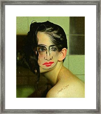 Turning Face Framed Print