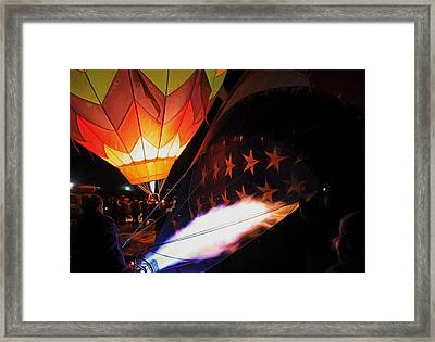 Turning On The Heat Framed Print by Donna Kennedy