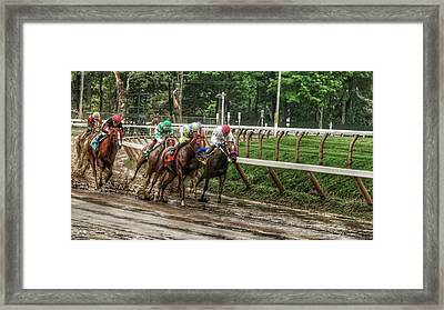 Turning The Mud Framed Print
