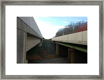 Turnpike Perceptions Framed Print by Heather S Huston
