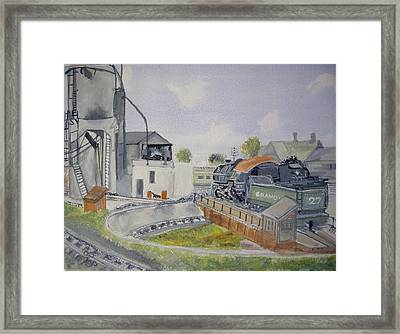 Turntable Roundhouse Framed Print