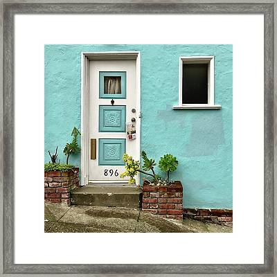 Turquioise Wall Framed Print by Julie Gebhardt
