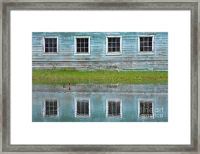 Turquiose Illusion Framed Print