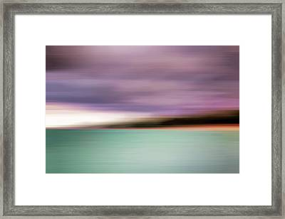 Turquoise Waters Blurred Abstract Framed Print
