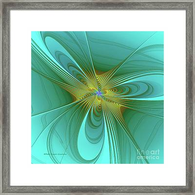 Turquois Abstract Framed Print