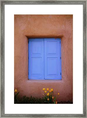 Framed Print featuring the photograph Turquoise And Adobe by Heidi Hermes