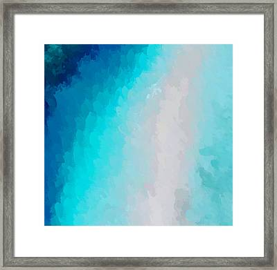 Turquoise And Blue Framed Print